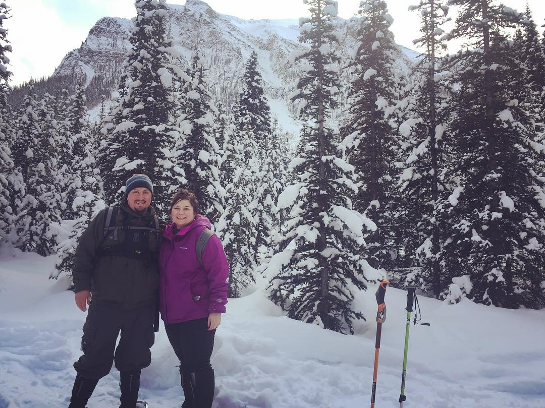 We did some legit back country snow shoeing. I only fell twice!!