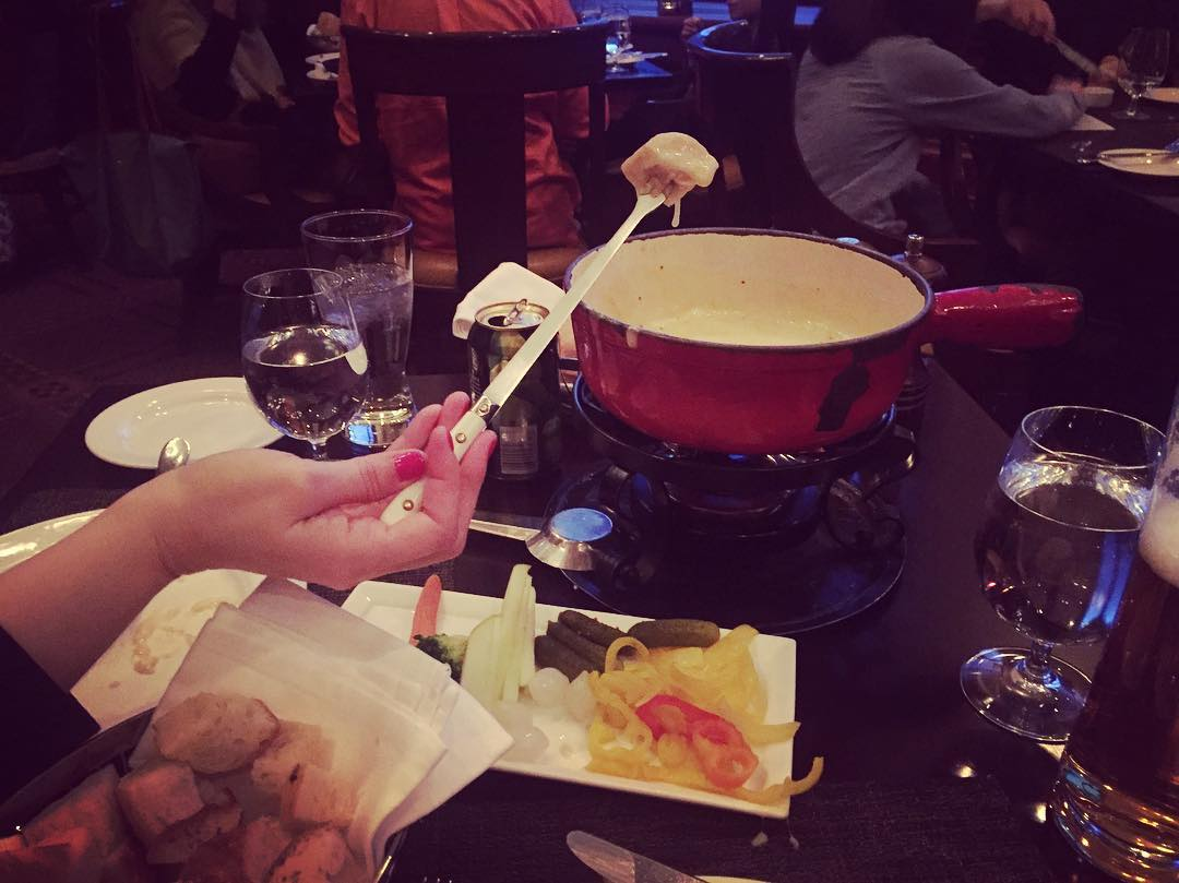 First time fondue! I like me some cheese.