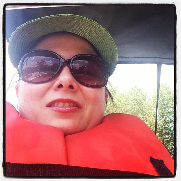 I'm paddling at Hermann park. For the chillren.