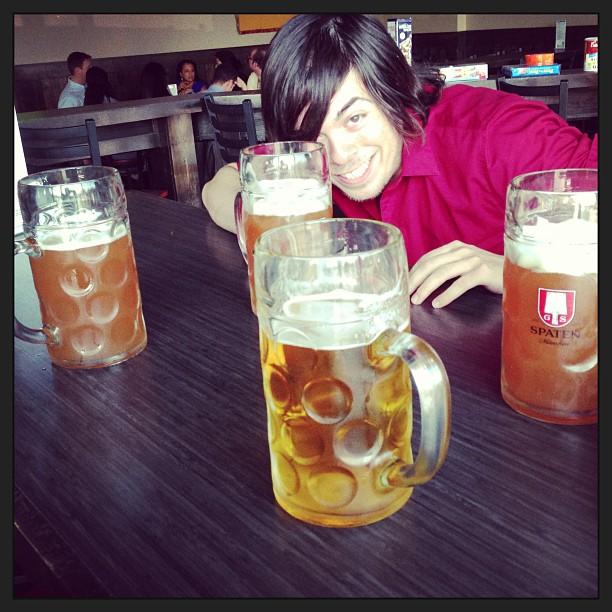 Birfday beers ... Proper