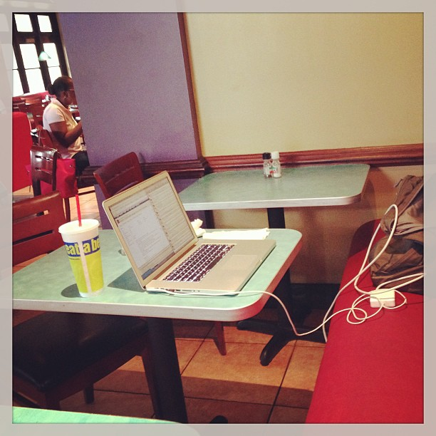 The Friday morning office ... at Cafe Express