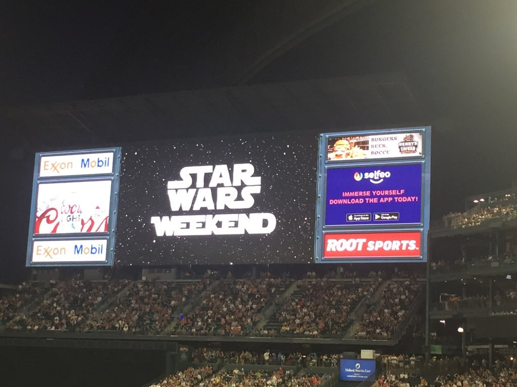 Star Wars night with the Mariners