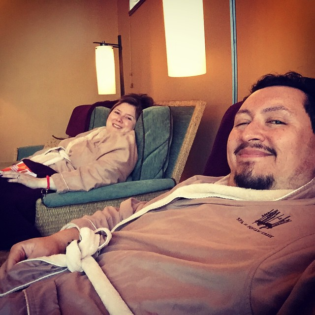 Spa day = chill like a motherfuckin pimp day