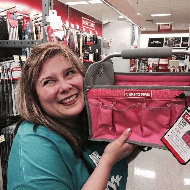 So happy I found my new pink craftsman tool bag to hold all my planner supplies and accessories!!
